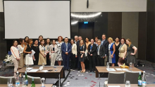 With faculty, staff, and attendees at the ASCO Multidisciplinary Cancer Management Conference in Tblisi, Republic of Georgia.